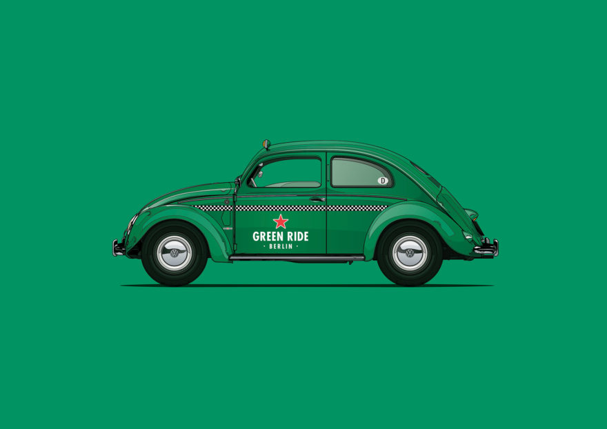 Heineken Green Ride - 1971 Volkswagen Beetle