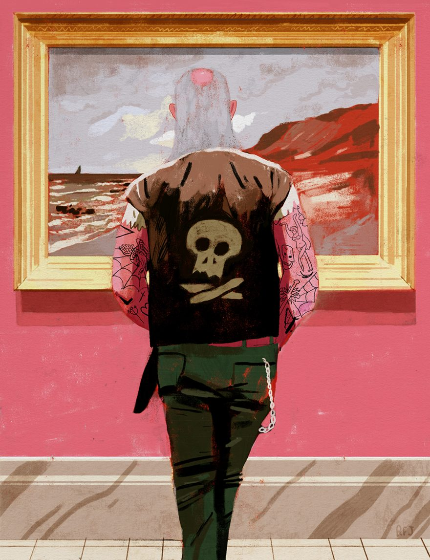 The Biker And The Monet