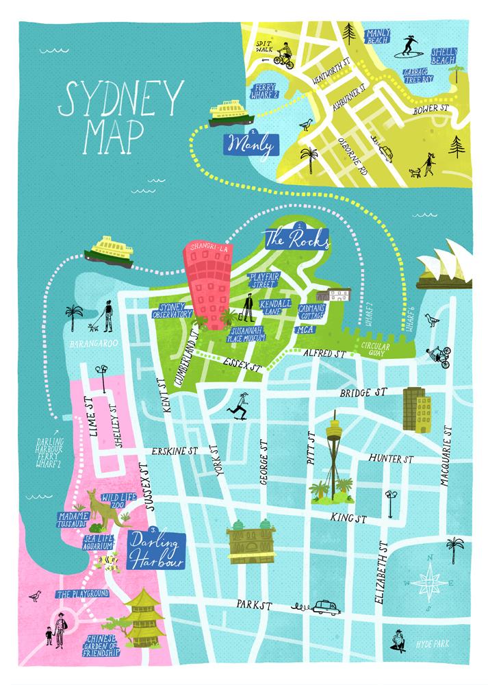 SUSANNA HARISSON | SYDNEY MAP FOR SHANGRI-LA HOTEL AND RESORTS ... on